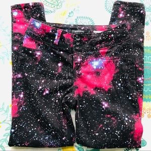Hot topic Blackheart super skinny galaxy pants